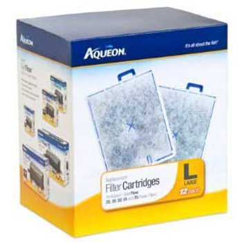 Aqueon Replacement Filter Cartridges For Quietflow 20 30 50 55 And 75 Large 12pk