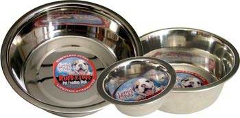 Loving Pets Striped Stainless Steel Dish 1/2 Pt.