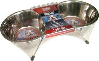 Loving Pets Double Diner Stainless Steel Qt.