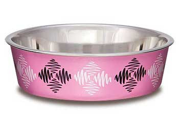 Loving Pets Bella Bowl Large Argyle - Pink
