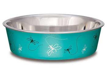 Loving Pets Bella Bowl Medium Dragonfly - Turquoise