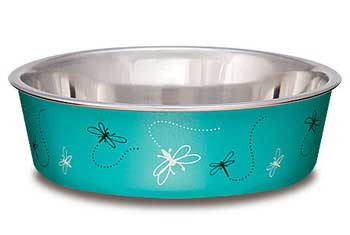Loving Pets Bella Bowl Small Dragonfly - Turquoise