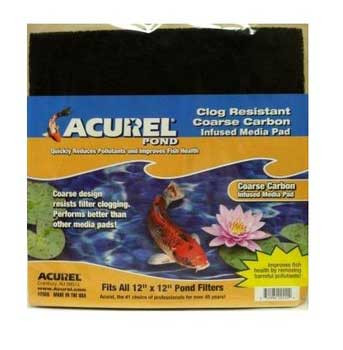 Acurel Loving Pets Pond Filter Pad Carbon Infused 12 X 12
