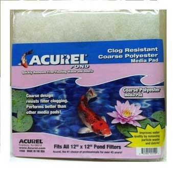 Acurel Loving Pets Pond Filter Pad Polyester 12 X 12