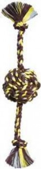 Mammoth Pet Products Small Color Monkey Fist Ball W/rope Ends 13in