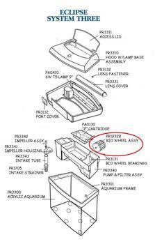 Marineland Eclipse Kit Bio-wheel Assembly