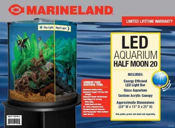 Marineland Half Moon Tank Combo 20 Gallon SD-X Free Store Pick Up - NO SHIPPING