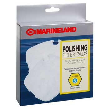 Marineland Polishing Filter Pads C-160 & C-220 Canister Filter Rite-size S 2pk