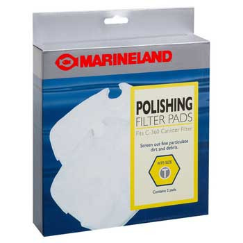 Marineland Polishing Filter Pads C-360 Canister Filter Rite-size T 2pk