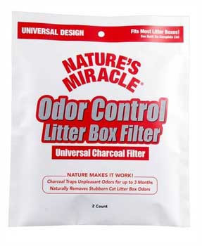 Natures Miracle Just For Cats Odor Control Universal Charcoal Filter 2pk