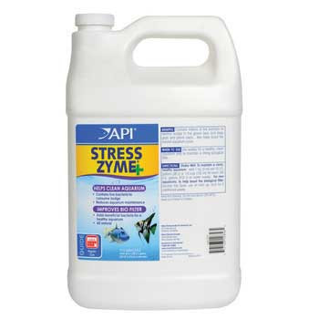 Aquarium Pharmaceuticals Stress Zyme 1 Gallon