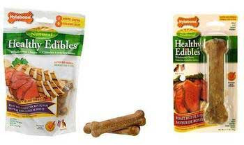 Nylabone Healthy Edibles Longer Lasting Roast Beef Regular 2pk