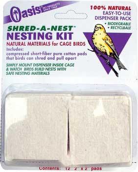 Kordon Oasis Shred-a-nest Nesting Kit For Cage Birds