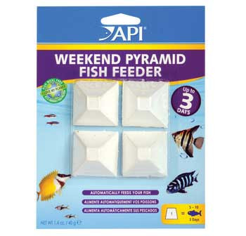 Aquarium Pharmaceuticals Api 3-day Pyramid Fish Feeder 4pk