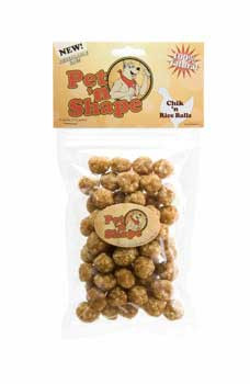 Pet N Shape Chik N Rice Balls 4oz