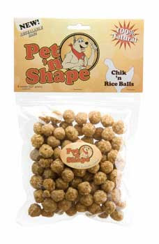 Pet N Shape Chik N Rice Balls 8oz
