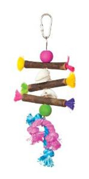 Prevue Pet Products Tropical Teasers Shells And Sticks Bird Toy