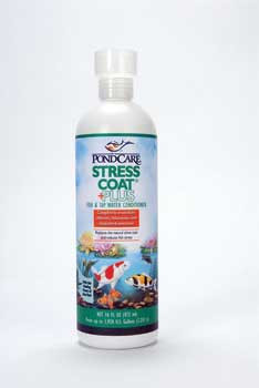 Aquarium Pharmaceuticals Api Pondcare Stress Coat 16 Oz.