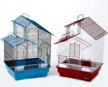 Prevue Pet Products Pre-packed House Style Parakeet Cages 2pc