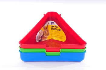 Prevue Hendryx Ferret / Rabbit Litter Pan (corner -80740