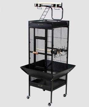 Prevue Pet Products Wrought Iron Select Cage Black 18x18x57in