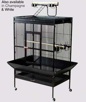 Prevue Pet Products Wrought Iron Select Cage Black 36x24x66in