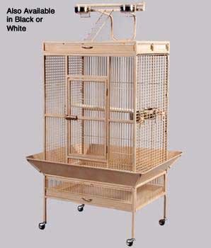 Prevue Pet Products Wrought Iron Select Cage Pewter 30x22x60in