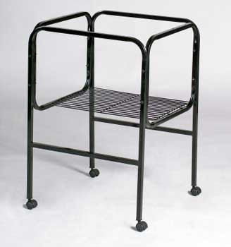 Prevue Pet Products Pre-packed Cage Stand White And Black 18x14/18x18 2pc