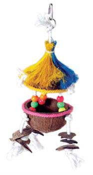 Prevue Pet Products Tropical Teasers Tiki Hut Bird Toy