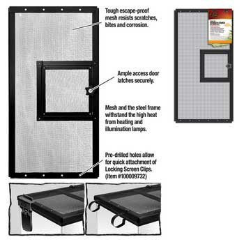 R-Zilla Fresh Air Screen Cover With Hinged Door 24x12