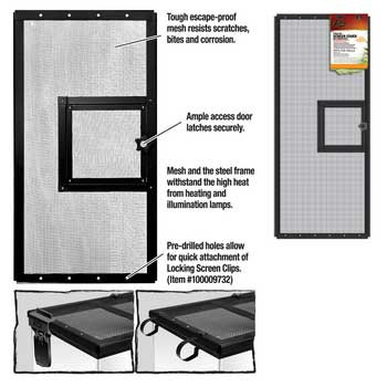 R-Zilla Fresh Air Screen Cover With Hinged Door 30x12