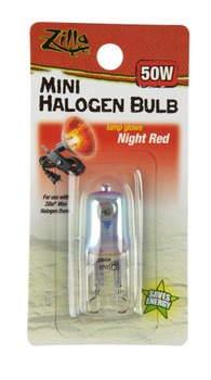 Zilla Halogen Mini Bulb Night Red 50W