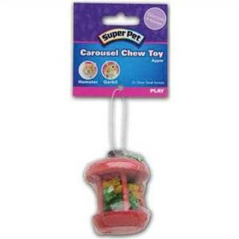 Super Pet Small Animal Carousel Chew Toy Apple Small