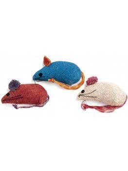 Spot Ethical Colored Burlap Mice 3pk