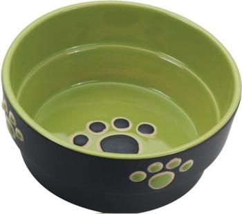 "Ethical Fresco Dog Dish Green 5"""