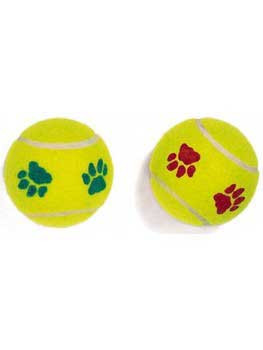Spot Ethical Mint Flavored Paw Print Tennis-ball 2pk