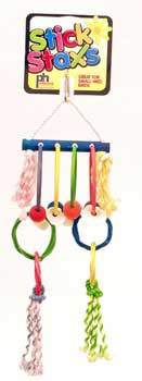 Prevue Pet Products Stick Staxs Hula Hoops Bird Toy
