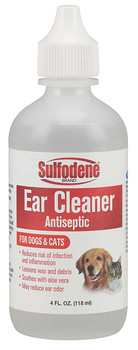 Sulfodene Brand Ear Cleaner Antiseptic For Dogs & Cats 4oz