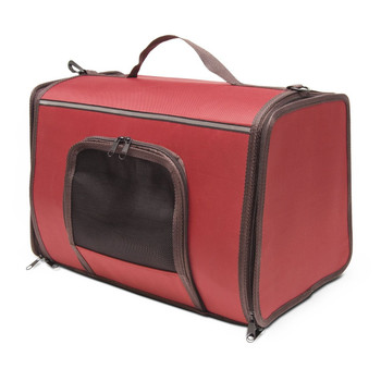 Let your pet travel in first class in the Come Along carrier, a cozy and comfortable fabric-covered pet carrier. The ultimate carrier for convenience and comfort, Come Along features fresh air vents, a handy storage spot, e-z carry handle and e-z zip double zipper design. Come Along carriers can be combined with the take me home travel home for the ultimate travel system.