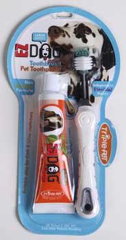 TRIPLE PETFetch For Pets Ezdog Dental Kit For Large Breeds