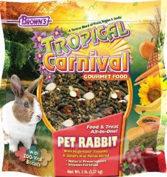 F.M. Brown's Tropical Carnival Rabbit Freeze Dried 5lb-90590
