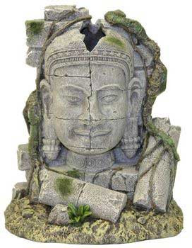 Blue Ribbon Exotic Environments Ancient Stone Head Ruin Bubbler 6x4x7in