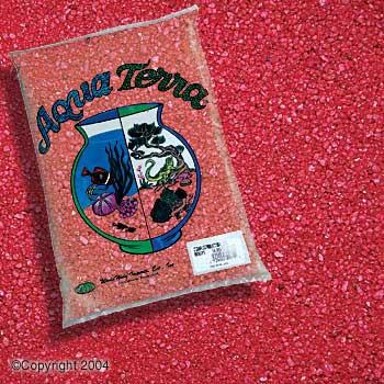 World Wide Imports World Wide Aquarium Terrarium Sand 5lb Red 6/case-78579