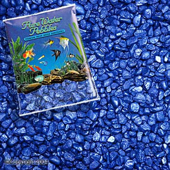 World Wide Imports Pure Water Pebbles Premium Fresh Water Substrates Deep Blue Frost 5lb