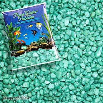World Wide Imports Pure Water Pebbles Premium Fresh Water Substrates Emerald Green Frost 5lb