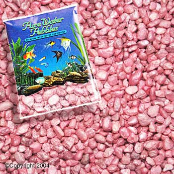 World Wide Imports Pure Water Pebbles Premium Fresh Water Substrates Pastel Pink Frost 5lb