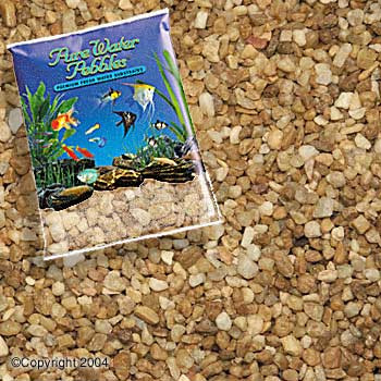 World Wide Imports Pure Water Pebbles Premium Fresh Water Substrates Nutty Pebbles 25lb