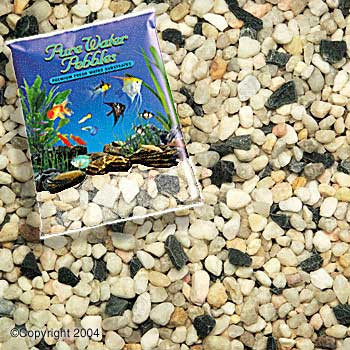 World Wide Imports Pure Water Pebbles Premium Fresh Water Substrates Rainbow Gems 25lb
