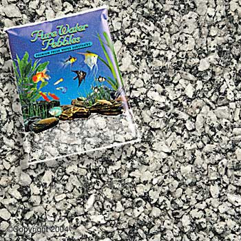 World Wide Imports Pure Water Pebbles Premium Fresh Water Substrates Silver Mist 25lb