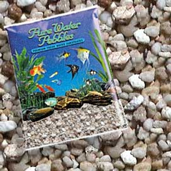 World Wide Imports Pure Water Pebbles Premium Fresh Water Substrates Gravel Amber Lite 5lb